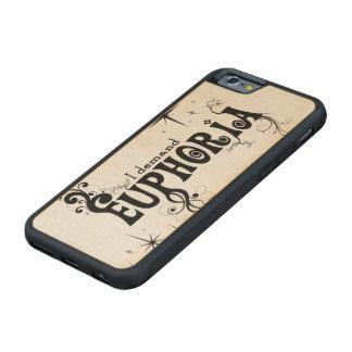 I Demand Euphoria - Black Swirls, Stars, Fireworks Carved Maple iPhone 6 Bumper Case