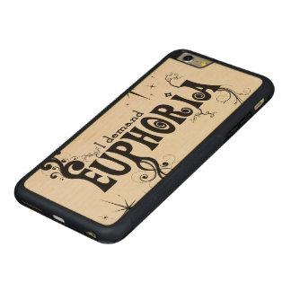 I Demand Euphoria - Black Swirls, Stars, Fireworks Carved Maple iPhone 6 Plus Bumper Case