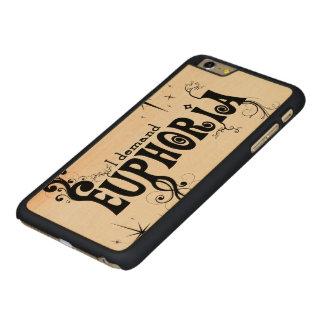 I Demand Euphoria - Black Swirls, Stars, Fireworks Carved Maple iPhone 6 Plus Case