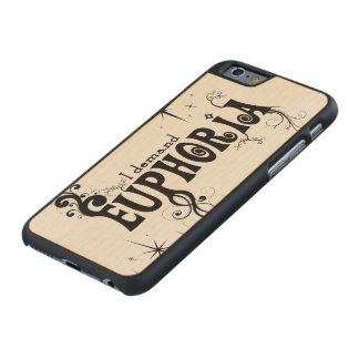 I Demand Euphoria - Black Swirls, Stars, Fireworks Carved Maple iPhone 6 Slim Case