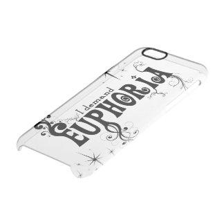 I Demand Euphoria - Black Swirls, Stars, Fireworks Clear iPhone 6/6S Case