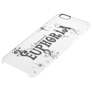I Demand Euphoria - Black Swirls, Stars, Fireworks Clear iPhone 6 Plus Case