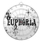 I Demand Euphoria - Black Swirls, Stars, Fireworks Dartboard