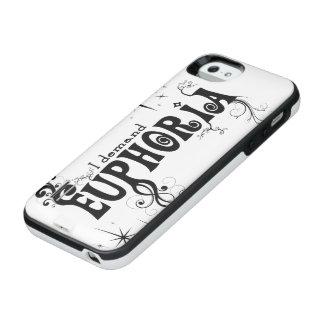 I Demand Euphoria - Black Swirls, Stars, Fireworks iPhone SE/5/5s Battery Case