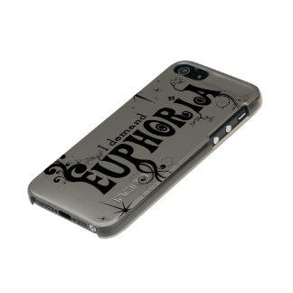 I Demand Euphoria - Black Swirls, Stars, Fireworks Metallic iPhone SE/5/5s Case