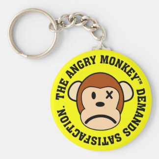 I demand satisfaction basic round button keychain
