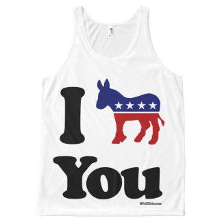 I Democrat You Politiclothes Humor -.png All-Over Print Tank Top