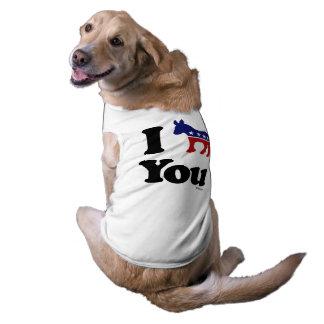 I Demócrata usted Playera Sin Mangas Para Perro