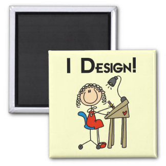 I Design Tshirts and Gifts 2 Inch Square Magnet