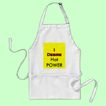 I Desire Black-Red POWER aprons