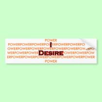 I Desire Black-Red POWER bumper stickers
