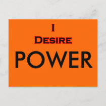 I Desire Black-Red POWER postcards