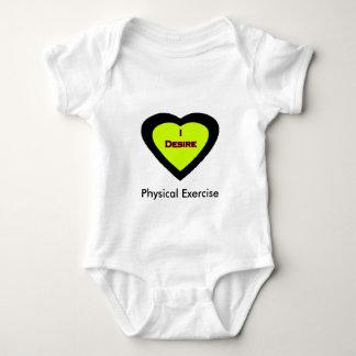 I Desire Physical Exercise Baby Bodysuit