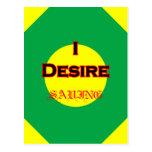 I Desire Saving Postcards