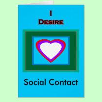 I Desire Social Contact cards