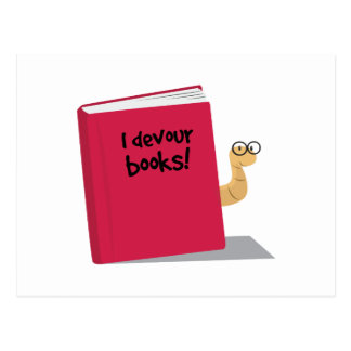 I Devour Books Postcard