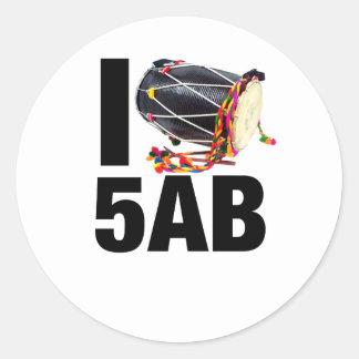 I ( Dhol ) 5AB Classic Round Sticker