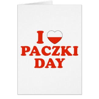 I día de Paczki del corazón Tarjeta