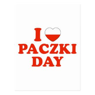 I día de Paczki del corazón Postal