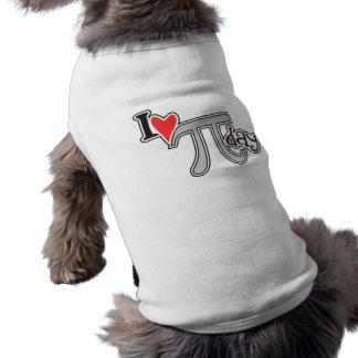 I día del corazón pi playera sin mangas para perro