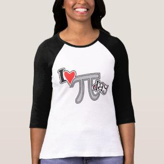 I día del corazón pi - regalo fresco de la ropa camiseta