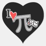 I día del corazón pi - regalos del día del pi colcomanias de corazon personalizadas