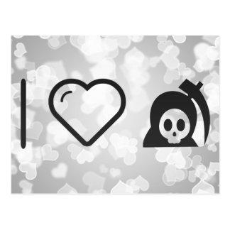 I diablos de Halloween del corazón Tarjeta Postal