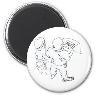 I dialogue in prospect of the pupil giving lesson  magnet