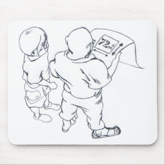 I dialogue in prospect of the pupil giving lesson  mouse pad