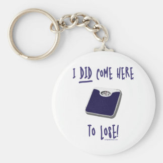 I DID come here to lose Basic Round Button Keychain