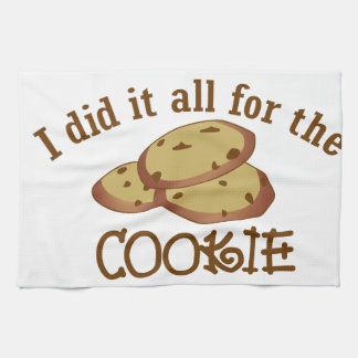 I Did it All for the Cookie Hand Towel