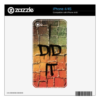I did it - bloody confession iPhone 4 skin