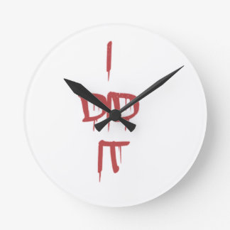 I did it - bloody letters round clock