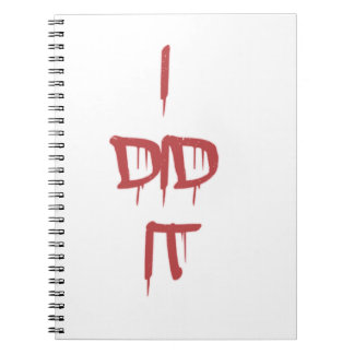 I did it - bloody letters spiral notebook
