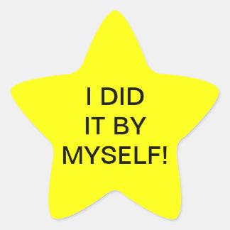 I DID IT BY MYSELF! - star stickers