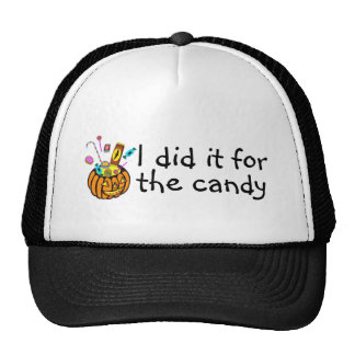 I Did It For The Candy (Pumpkin) Trucker Hat