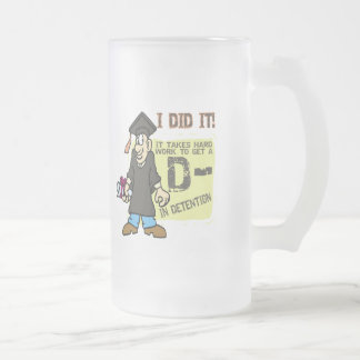 I Did It Graduation T Shirts and Gifts Frosted Glass Beer Mug