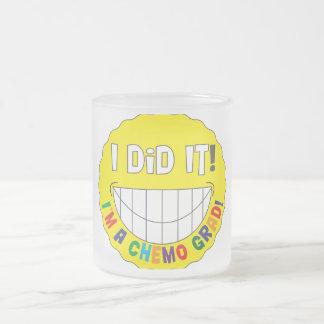 I Did It!  I am a Chemo Grad 10 Oz Frosted Glass Coffee Mug