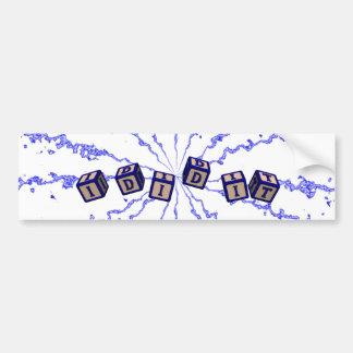 I did it toy blocks in blue bumper sticker