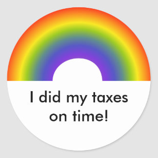 I Did My Taxes On Time! sticker