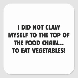 I Did Not Claw Myself To The Top Of The Food Chain Square Sticker