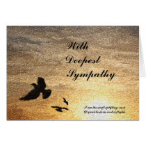 I Did Not Die Sympathy Card