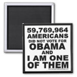 I Did Not Vote For Obama 2 Inch Square Magnet