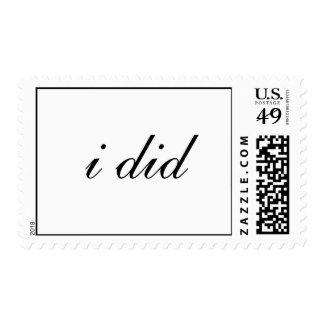 i did postage