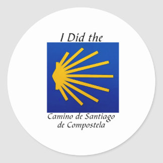 I Did the Camino de Santiago Round Sticker