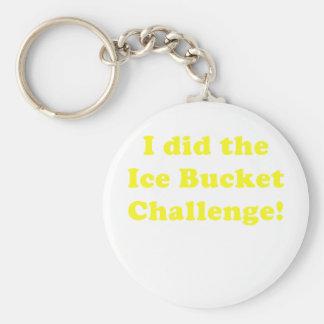 I Did the Ice Bucket Challenge Basic Round Button Keychain