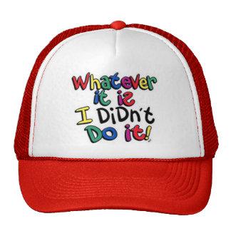 I Didn't  Cap Trucker Hat