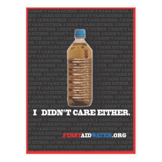 I Didn't Care Either Series Postcard