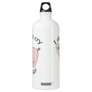 I didn't cry, well, not much! cute piggy art SIGG traveler 1.0L water bottle