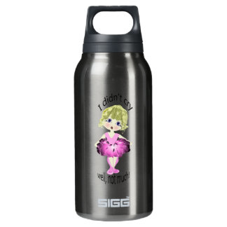 I didn't cry, well, not much! cute pink ballerina insulated water bottle